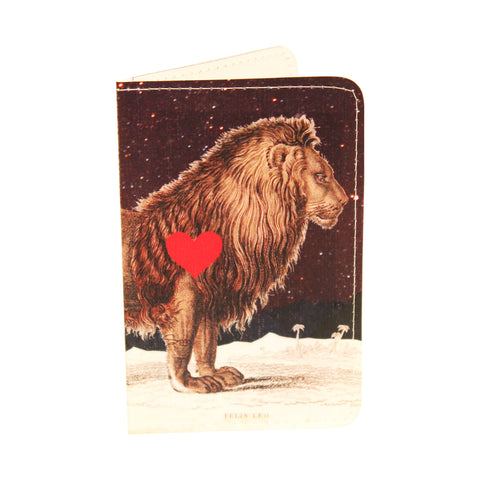 Starry Leo Lionheart Business, Credit and ID Card Holder Wallet