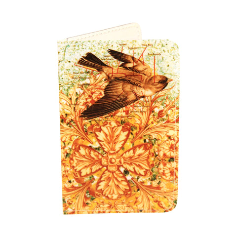 Ornate Finch Bird Lover Business, Credit & ID Card Holder