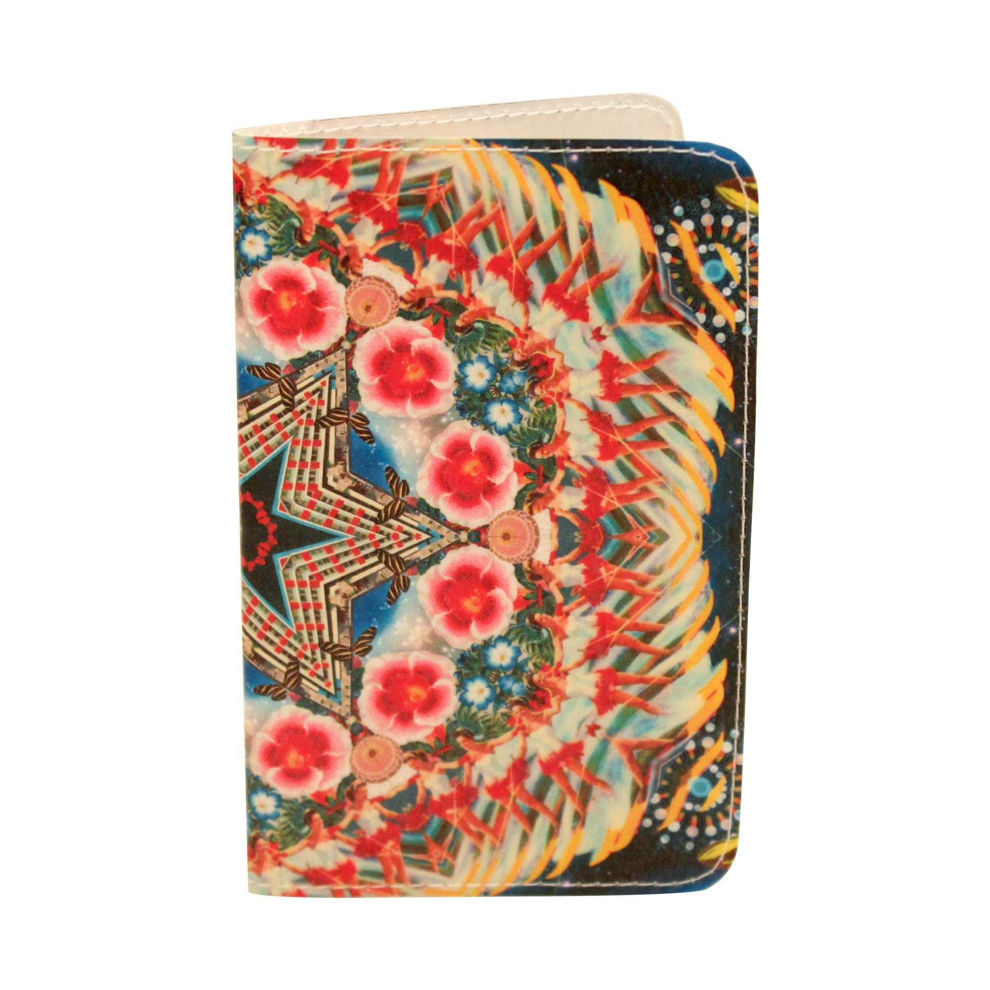 Space Flower Mandala Business, Credit & ID Card Holder