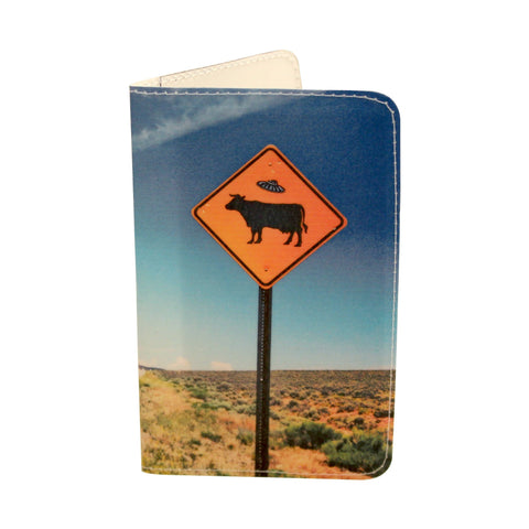 Taos Flying Saucer Cattle Business, Credit & ID Card Holder