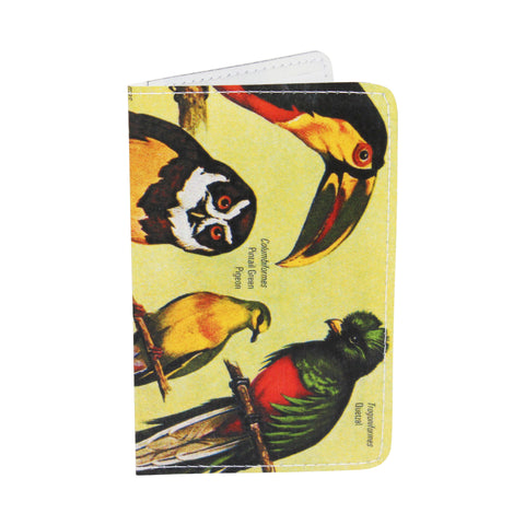 Audobon Green Birds Business, Credit & ID Card Holder