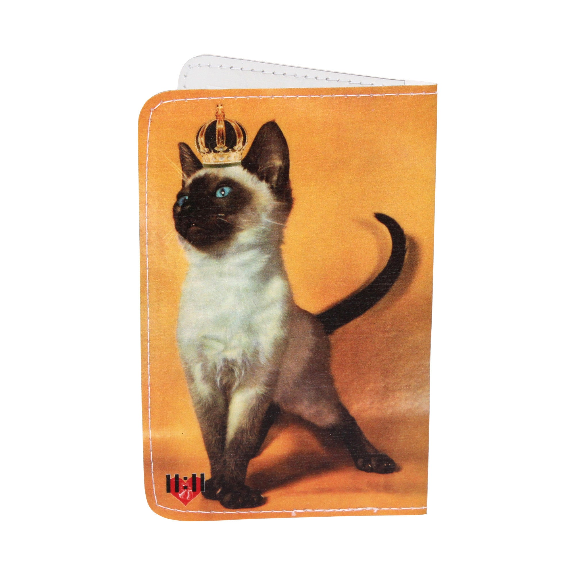 Golden Royal Siamese Kitty Business, Credit & ID Card Holder