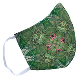 House Plant Mandala 100% Cotton Face Mask