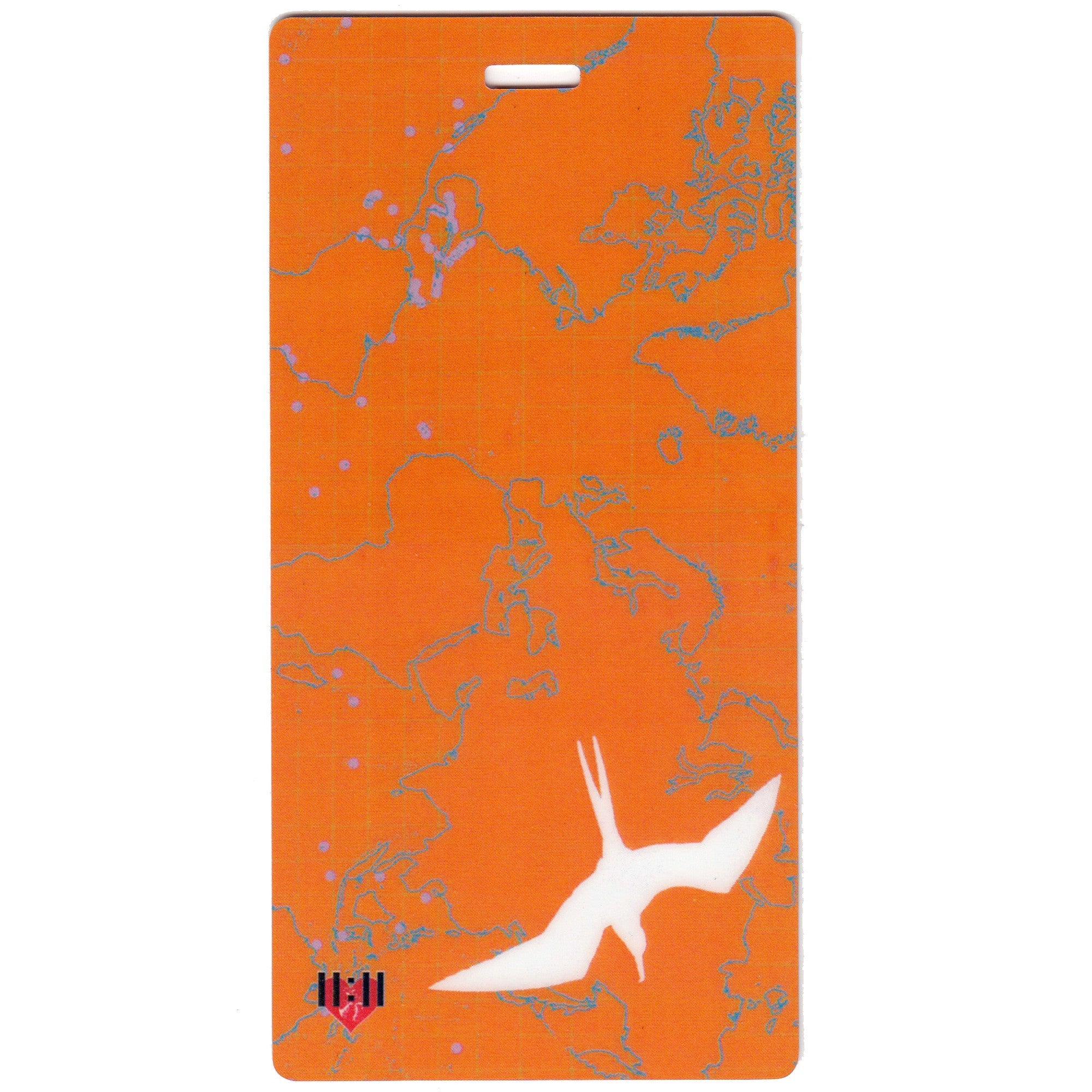 Orange Bird Map Luggage Bag Tag Set - 2 pc, Large by 11:11 Enterprises