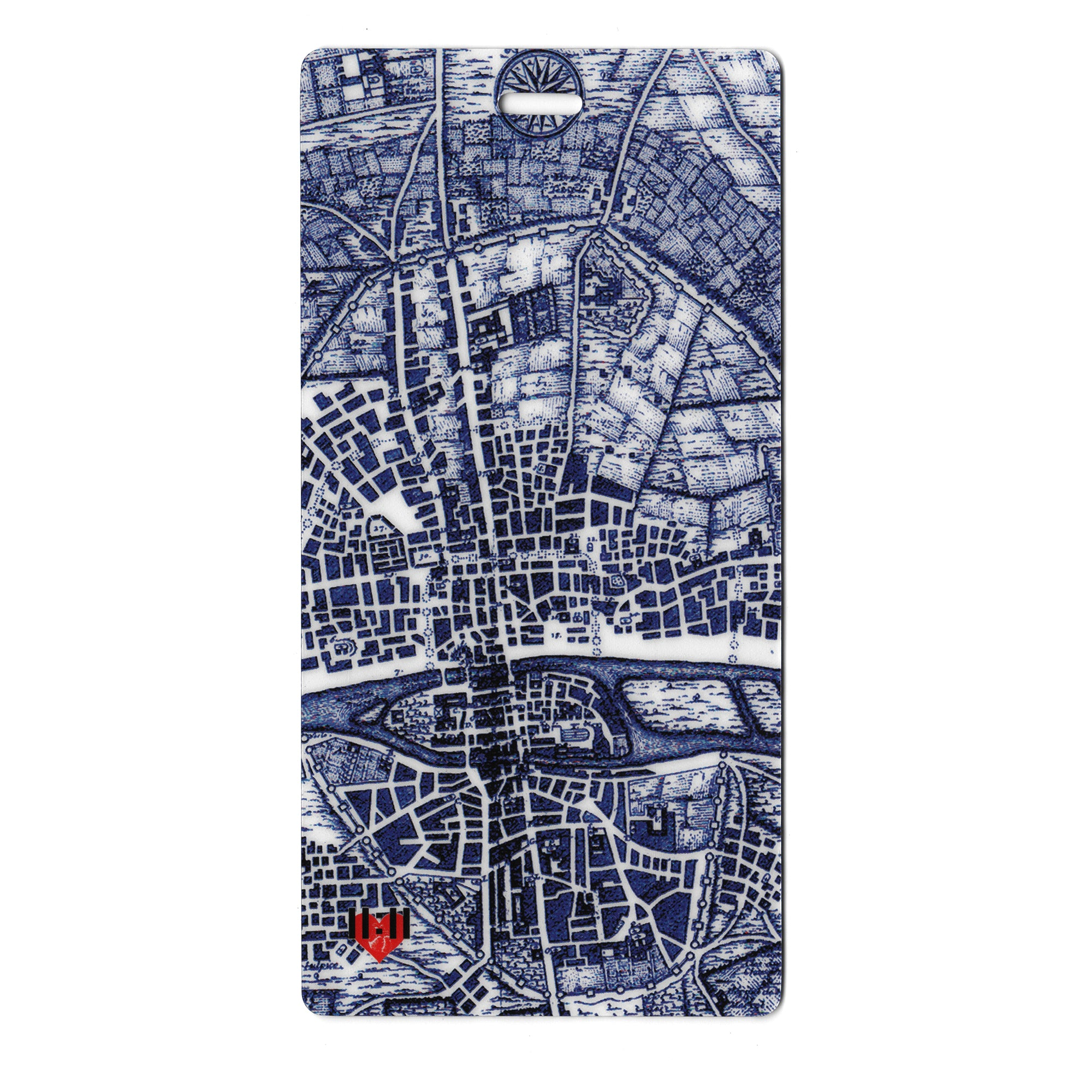 Map of Paris Luggage Bag Tag Set - 2 pc, Large by 11:11 Enterprises