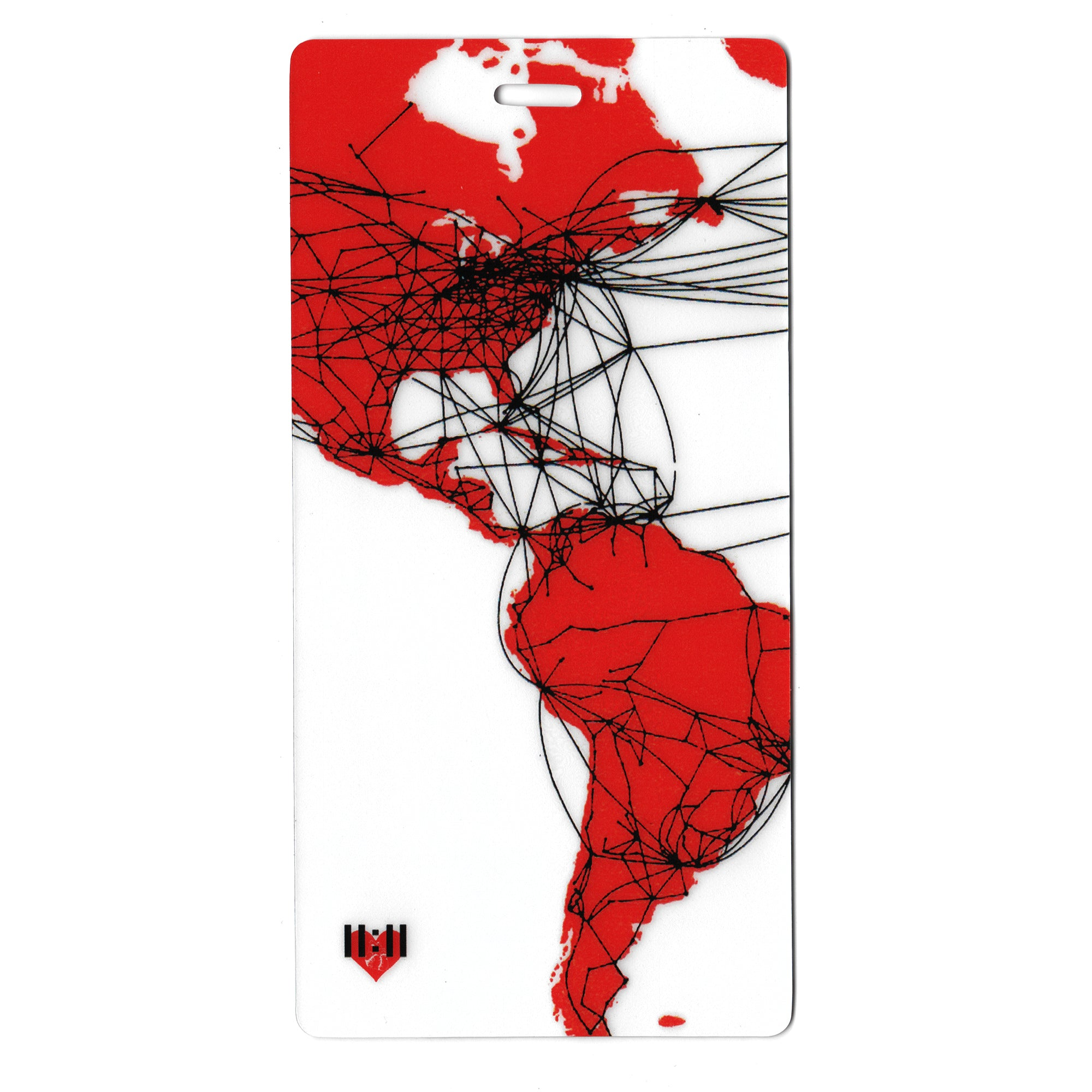 Airlines Route Map Luggage Bag Tag Set - 2 pc, Large by 11:11 Enterprises