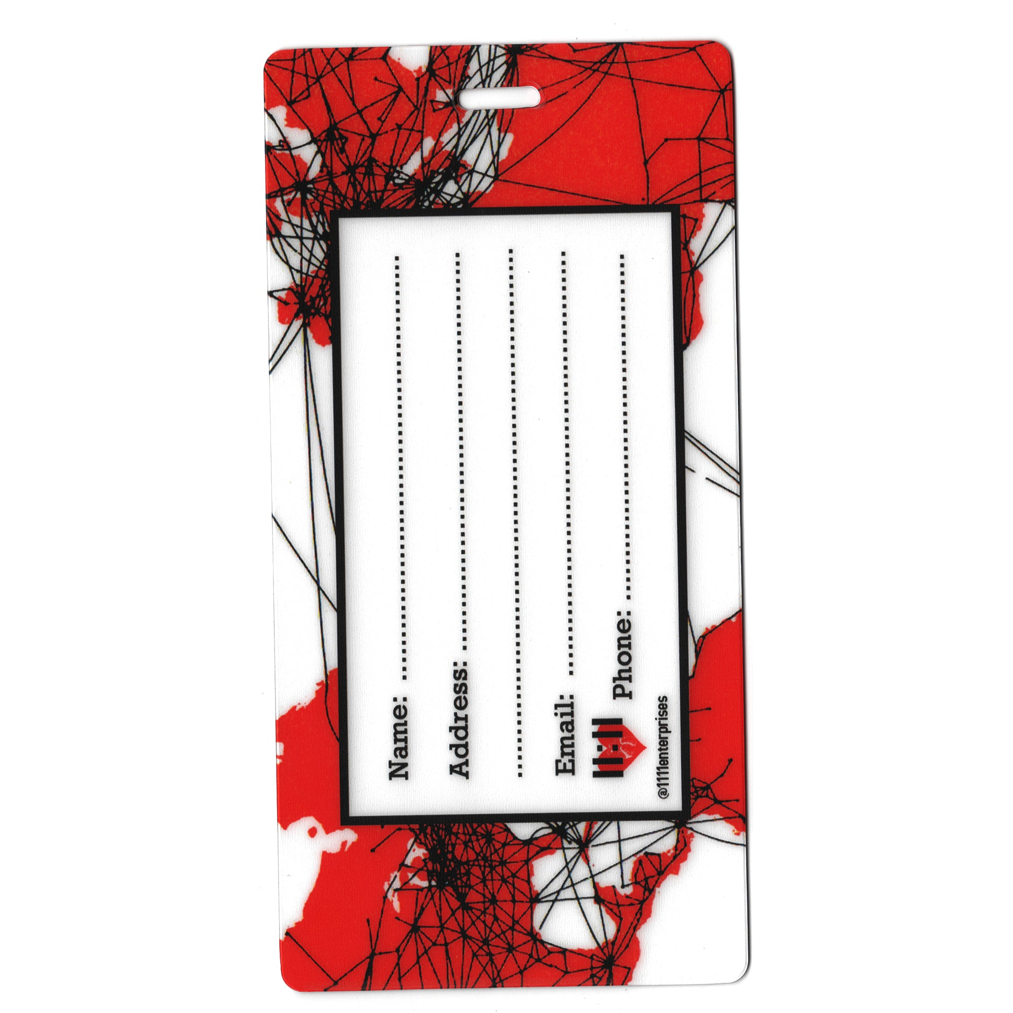 Airlines Route Map Travel Set- Passport Holder + Matching Luggage Tags