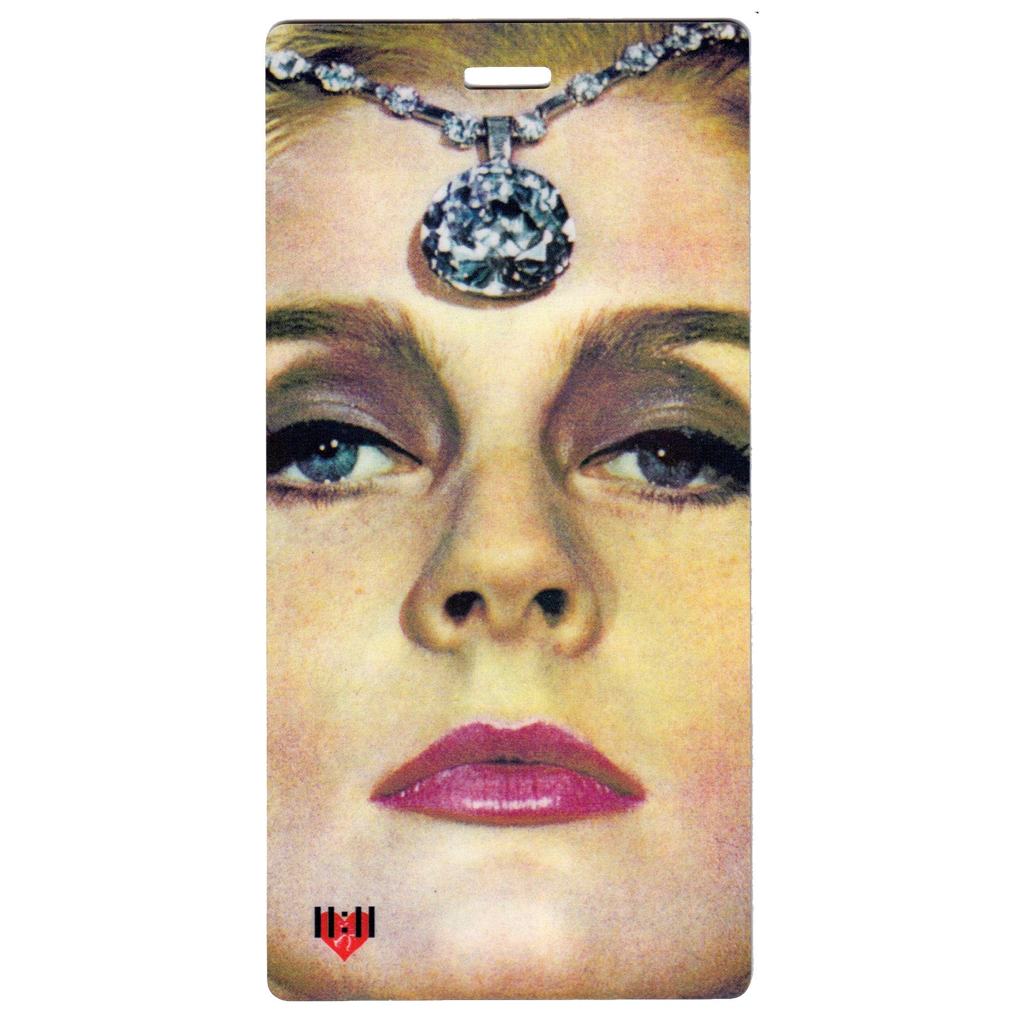 Diamond Lady Vintage Luggage Bag Tag Set - 2 pc, Large by 11:11 Enterprises