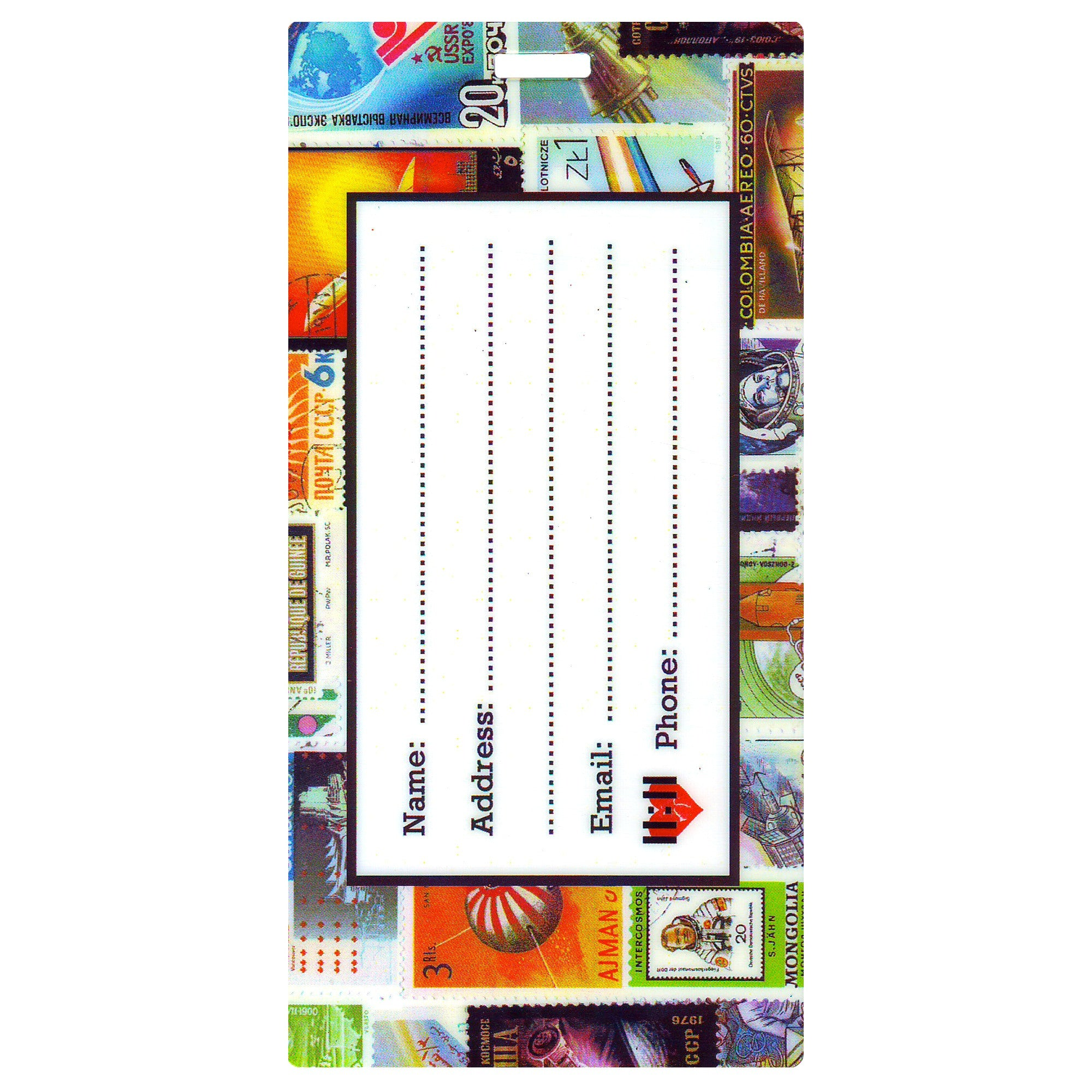 Flying Stamps Luggage Bag Tag Set - 2 pc, Large by 11:11 Enterprisest