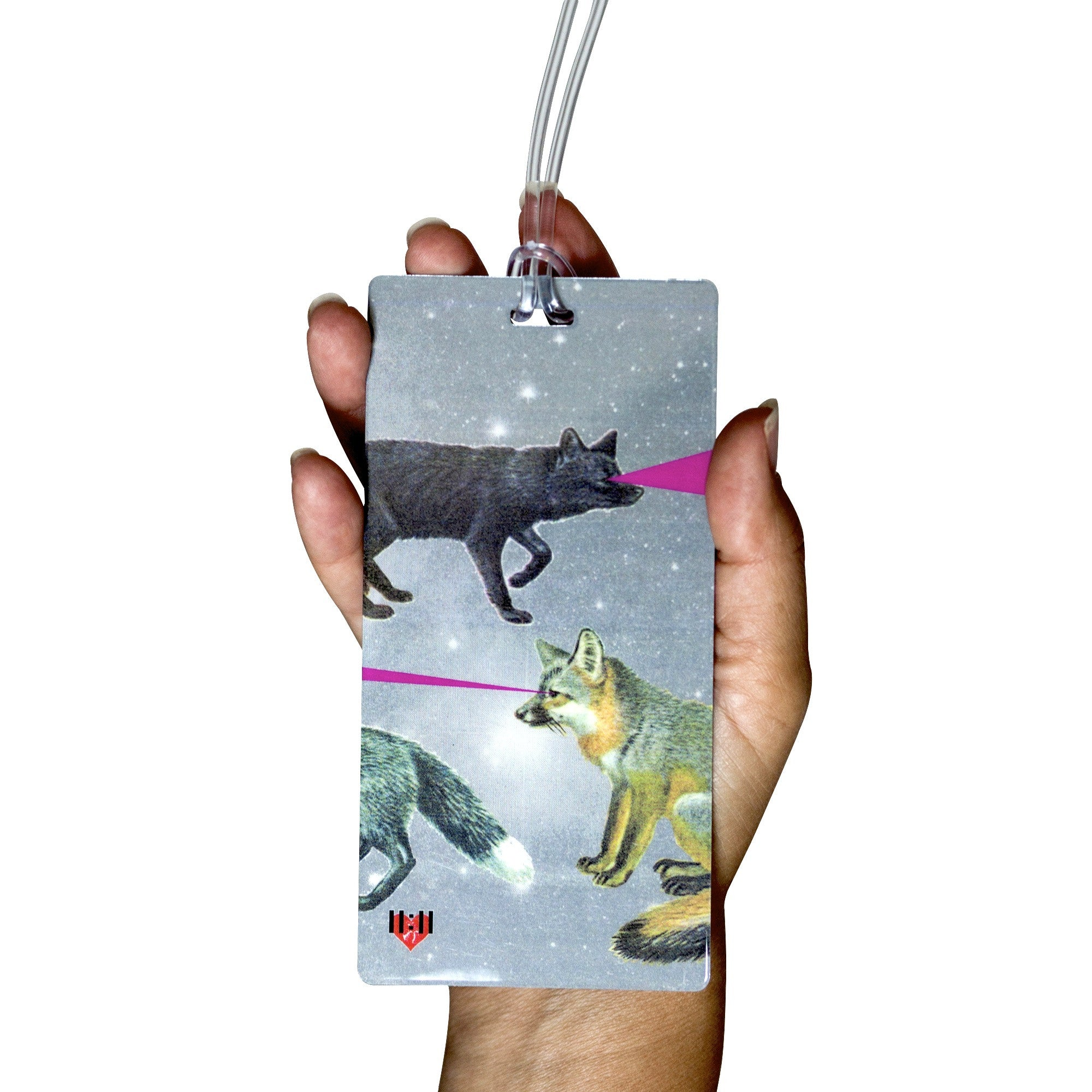 Foxy Lasers Luggage Bag Tag Set - 2 pc, Large by 11:11 Enterprises