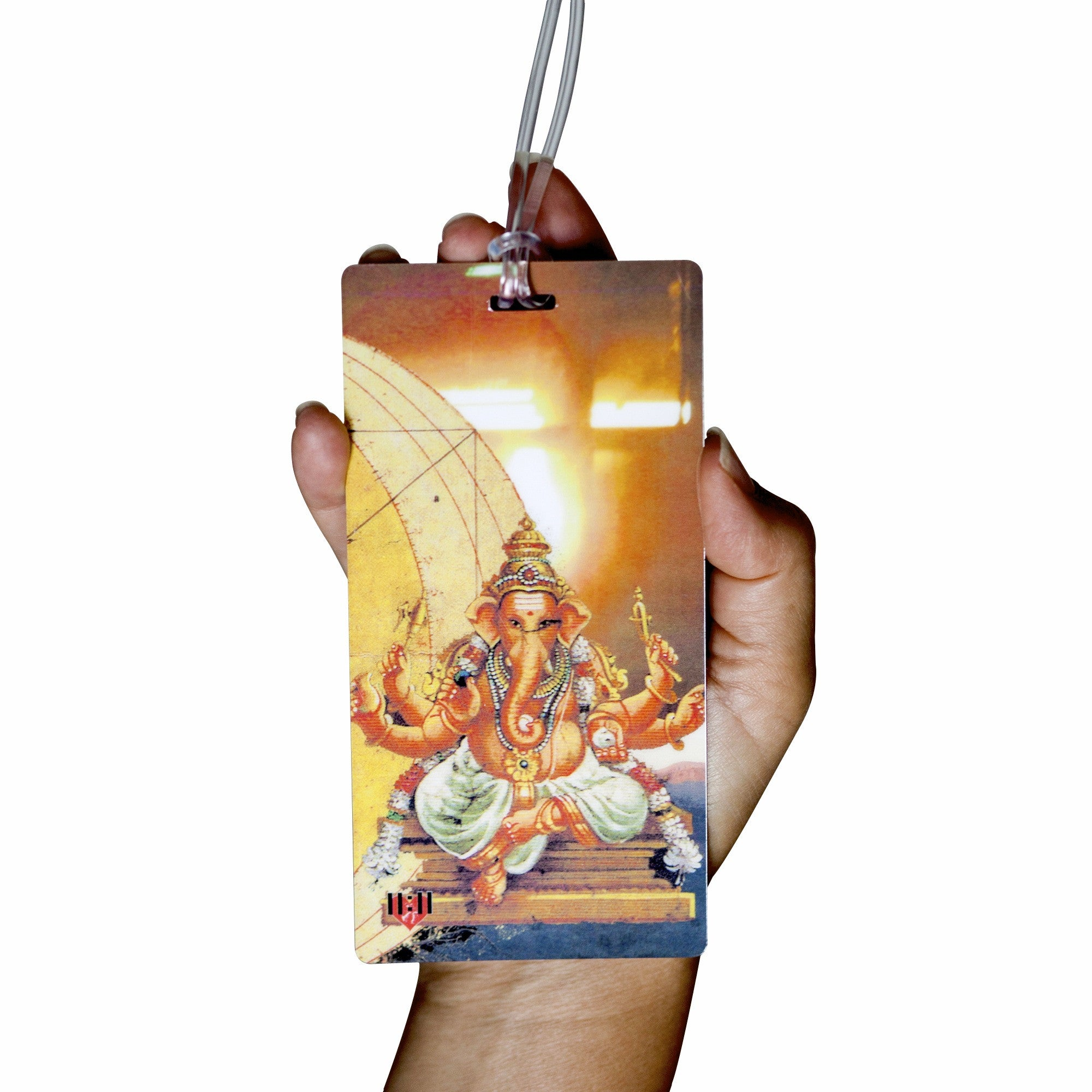 Ganesha: Remover of Obstacles Luggage Bag Tag Set - 2 pc, Large by 11:11 Enterprises