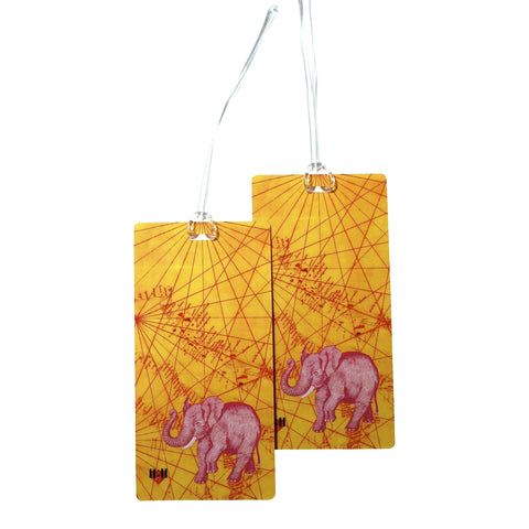 Onward Pink Elephant Luggage Bag Tag Set - 2 pc, Large by 11:11 Enterprises