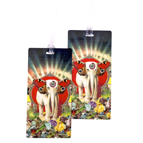 Magical Elephant Luggage Bag Tag Set - 2 pc, Large by 11:11 Enterprises