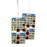 Blue Bingo Card Luggage Bag Tag Set - 2 pc, Large by 11:11 Enterprises
