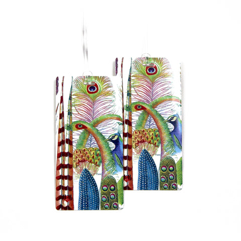 Butterfly Postage Stamps Luggage Bag Tag Set - 2 pc, Large by 11:11 Enterprises