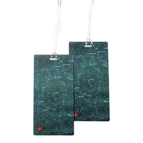 Star Chart Astrology Luggage Bag Tag Set - 2 pc, Large by 11:11 Enterprises