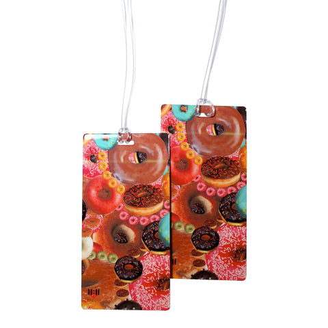 Donuts Secret Luggage Bag Tag Set - 2 pc, Large by 11:11 Enterprises