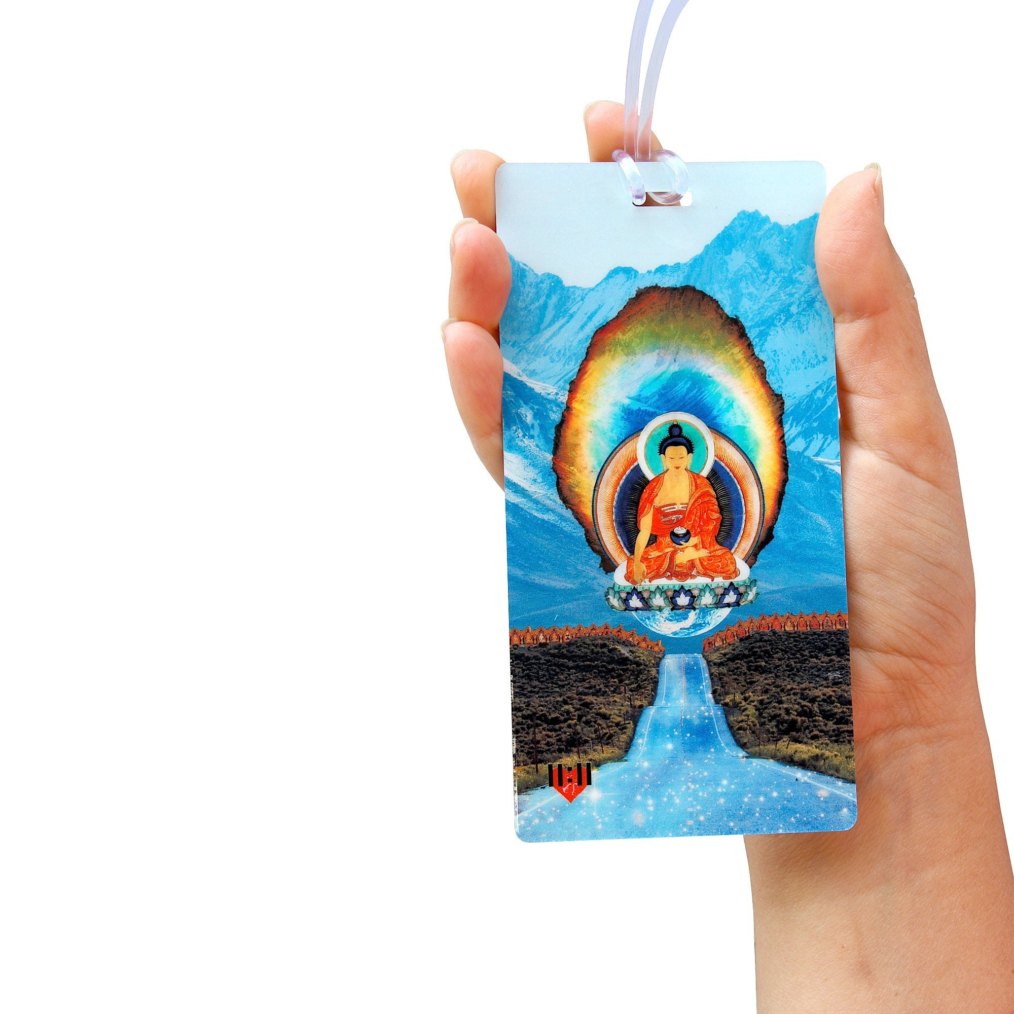 Diamond Buddha Luggage Bag Tag Set - 2 pc, Large by 11:11 Enterprises