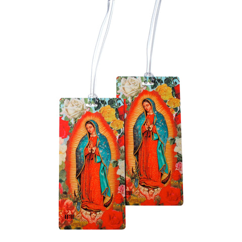Virgin Mary Guadalupe Luggage Bag Tag Set - 2 pc, Large by 11:11 Enterprises