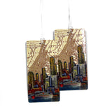 New York City Skyline (NYC) Luggage Bag Tag Set - 2 pc, Large by 11:11 Enterprises