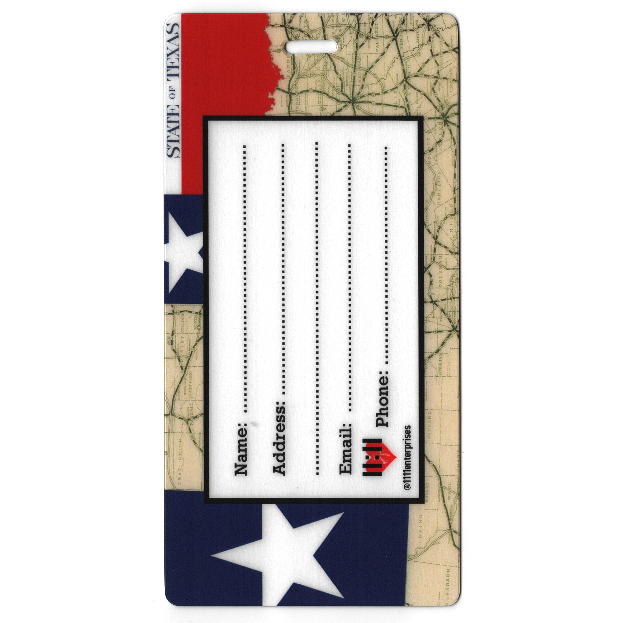 State of Texas Luggage Bag Tag Set - 2 pc, Large by 11:11 Enterprises