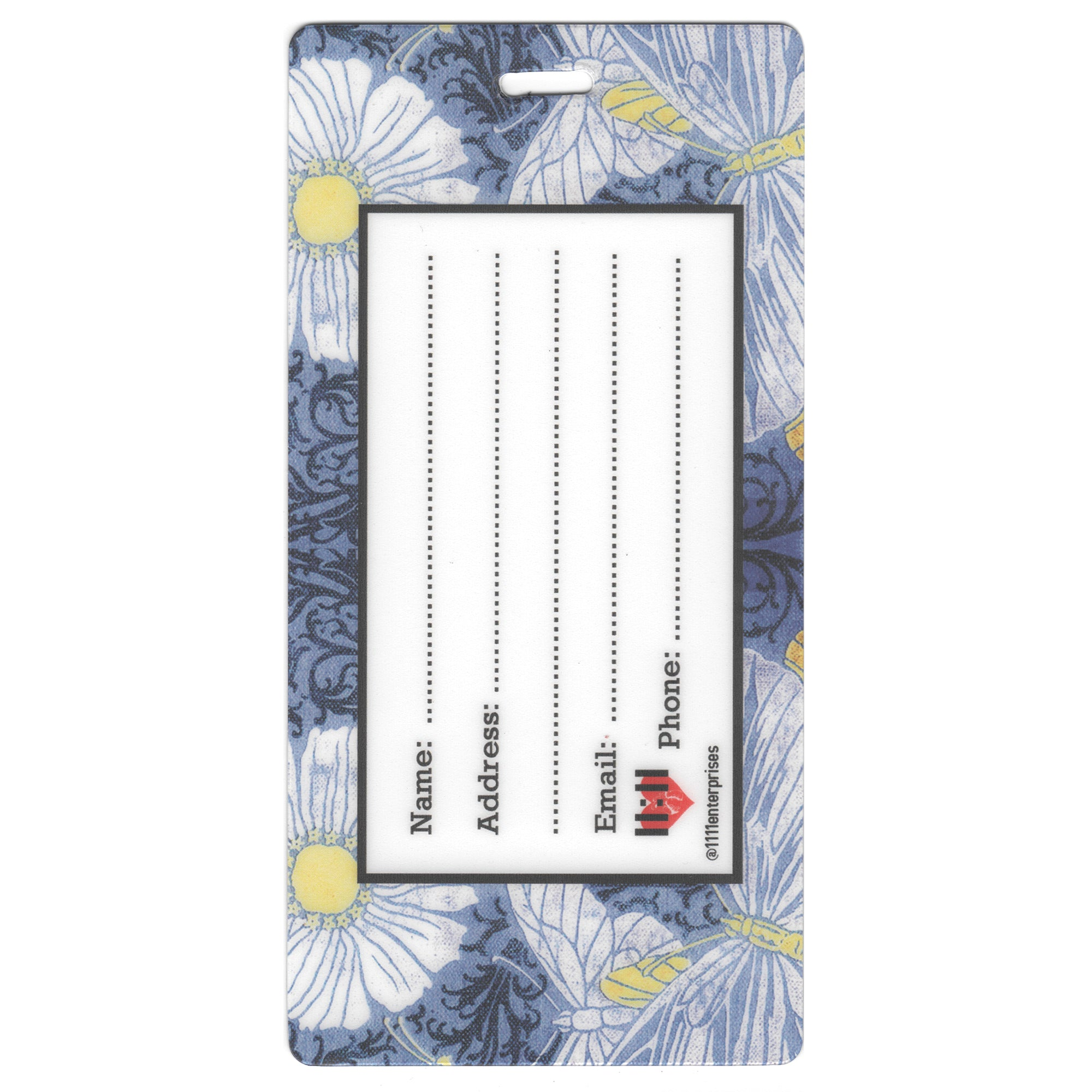 Butterfly Book Luggage Bag Tag Set - 2 pc, Large by 11:11 Enterprises