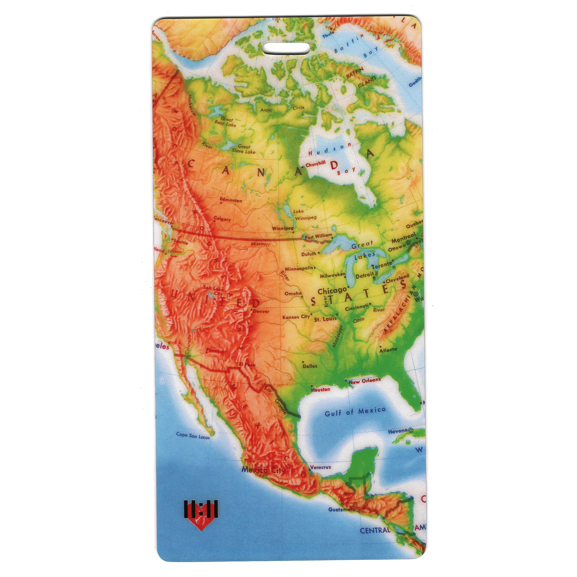 American Continent Travel Set- Passport Holder + Matching Luggage Tags