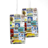 Ships Postage Stamps Luggage Bag Tag Set - 2 pc, Large by 11:11 Enterprises