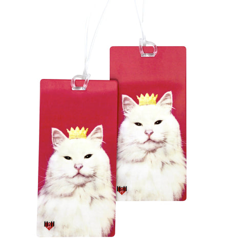 Pink Royal Kitty Luggage Bag Tag Set - 2 pc, Large by 11:11 Enterprises