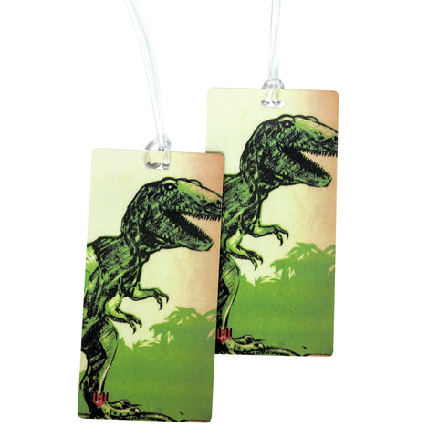 T-Rex Dinosaur Luggage Bag Tag Set - 2 pc, Large by 11:11 Enterprises