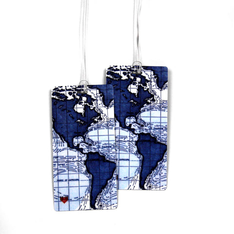 Ocean Currents Luggage Bag Tag Set - 2 pc, Large by 11:11 Enterprises