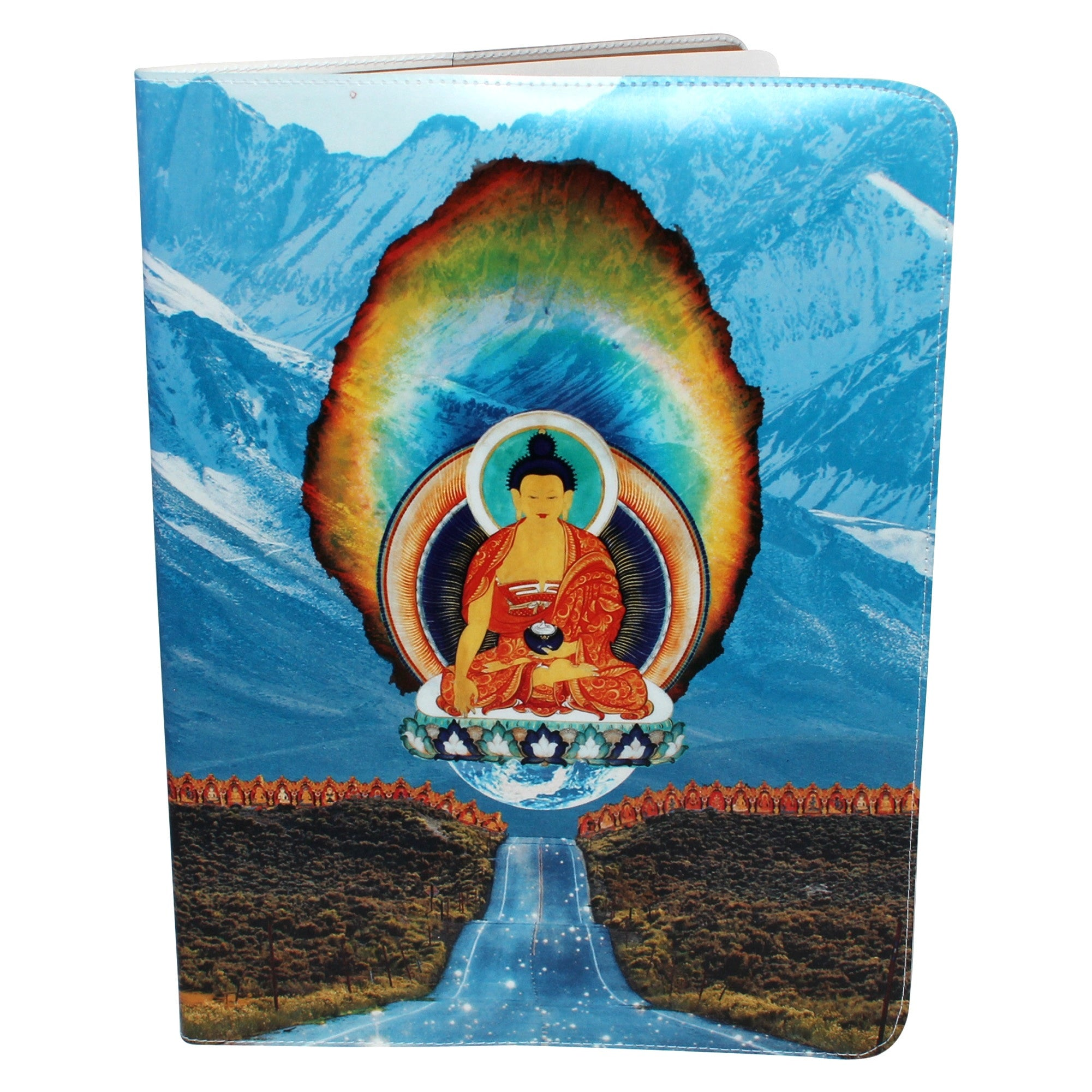 Diamond Buddha Road Covered Moleskine Cahier Extra Large Notebook