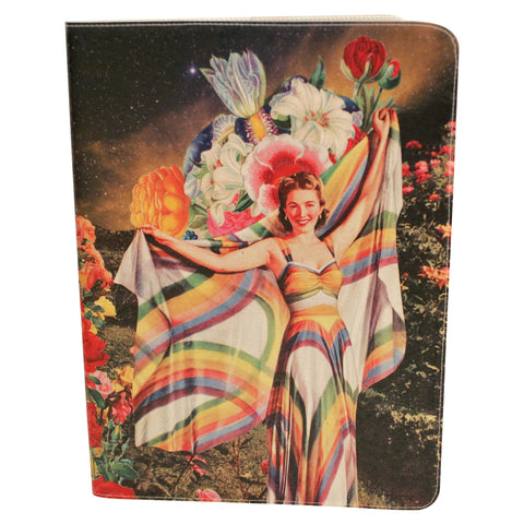 Rainbow Goddess Journal (Diary, Notebook) w/ Extra Large Moleskine Cahier Cover