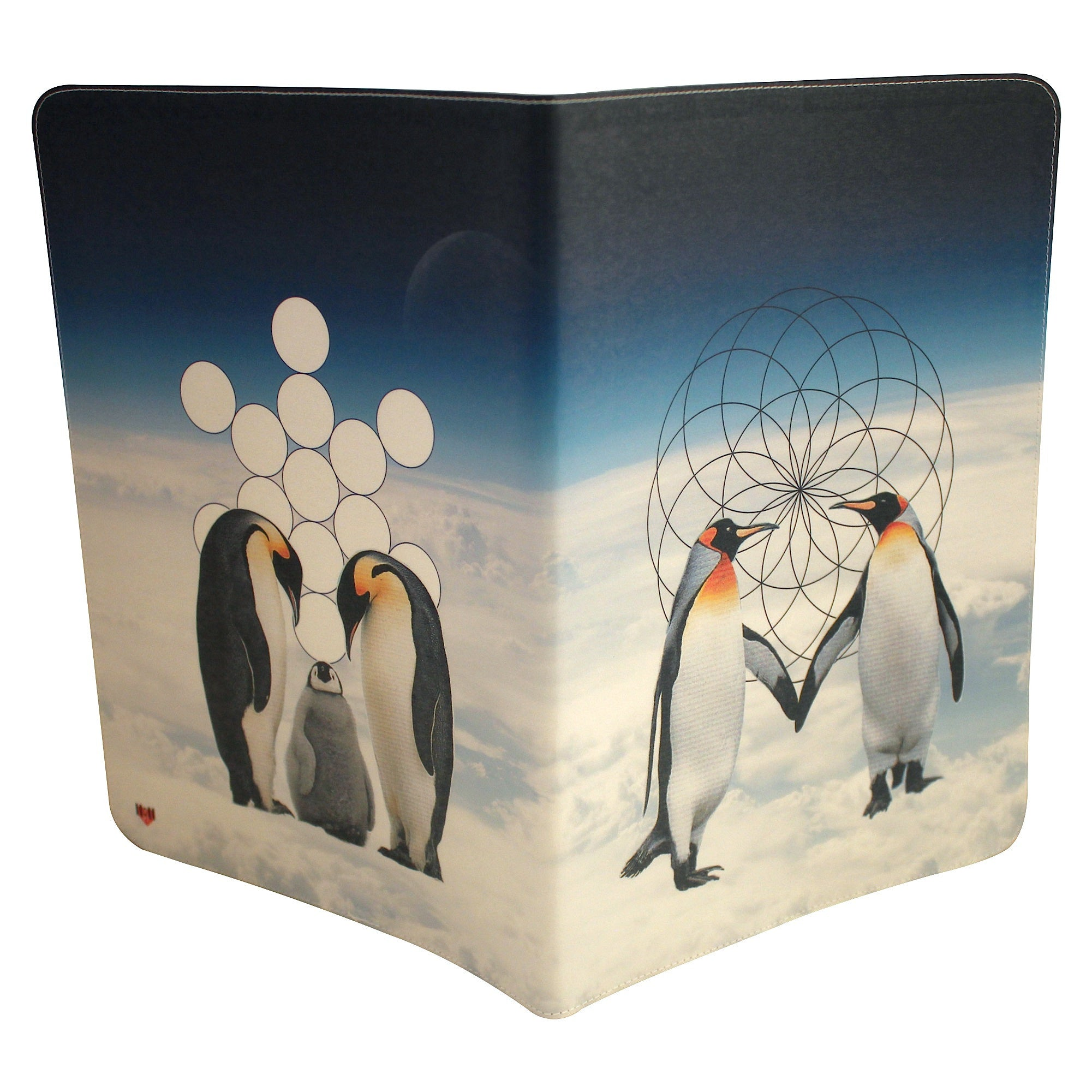 Penguin Love Journal (Diary, Notebook) w/ Extra Large Moleskine Cahier Cover