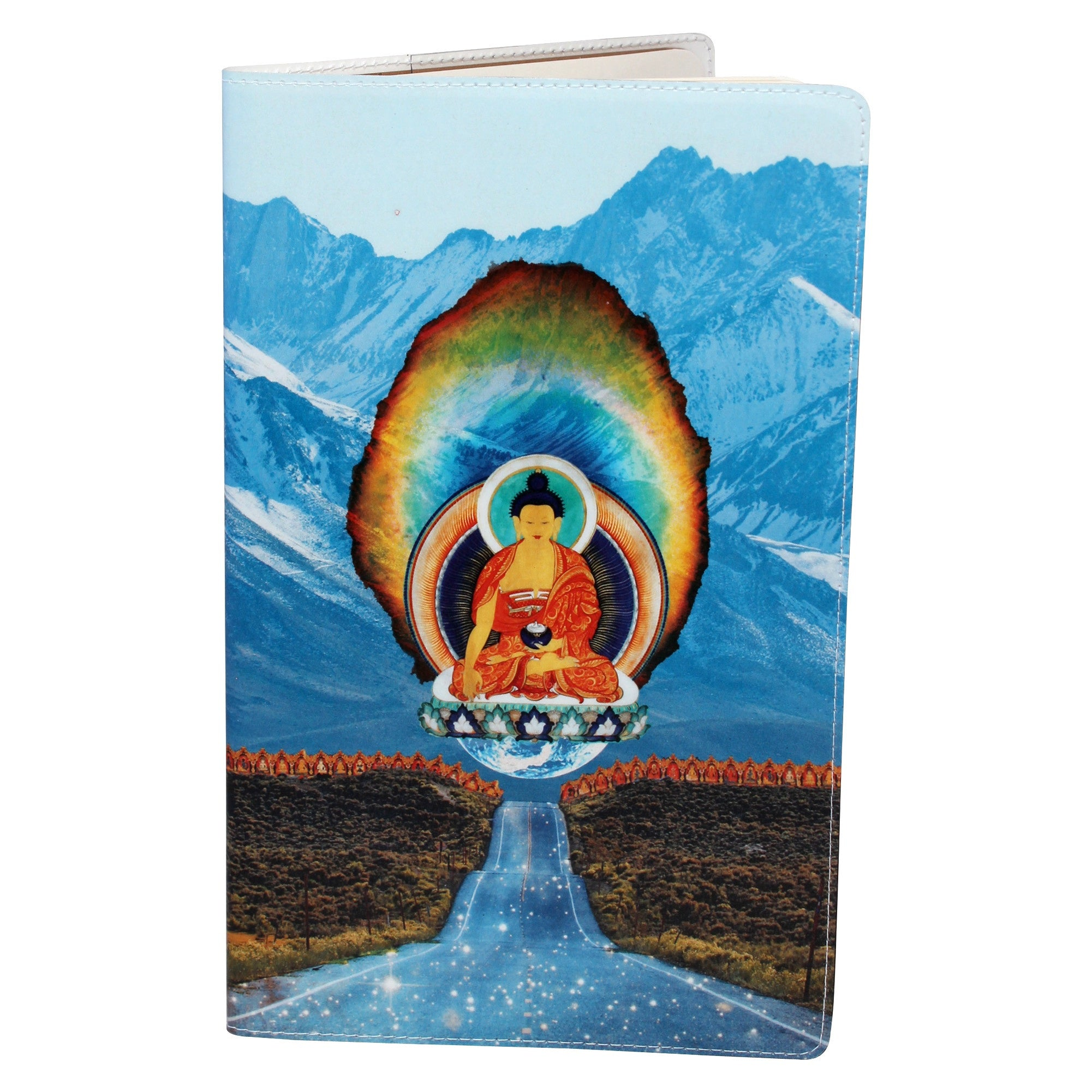 Diamond Buddha Road Moleskine Cahier, Large Notebook Cover