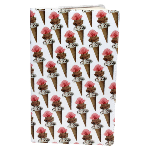 Ice Cream Cones Moleskine Cahier, Large Notebook Cover