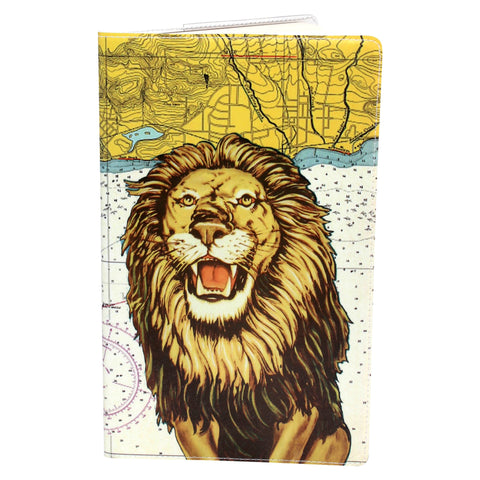Fierce Lion Vacation Moleskine Cahier, Large Notebook Cover