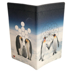 Penguin Love Journal (Diary, Notebook) w/ Large Moleskine Cahier Cover