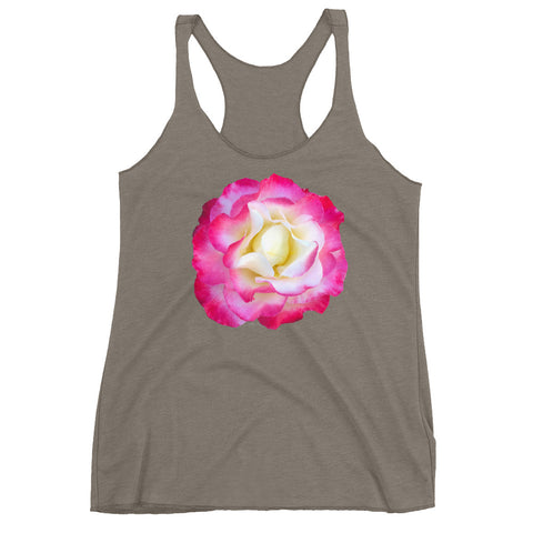 Rose No. 1 by Jamila Starwater // Women's Racerback Tank
