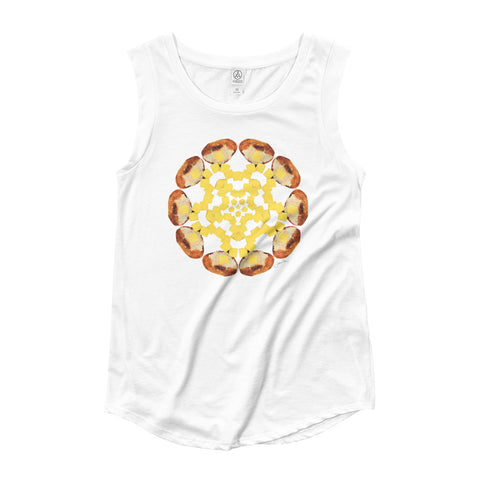Baked Potato Mandala by Jamila Starwater // Ladies' Cap Sleeve T-Shirt