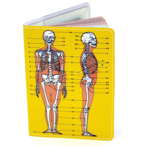 Skeleton Anatomy Travel Passport Holder