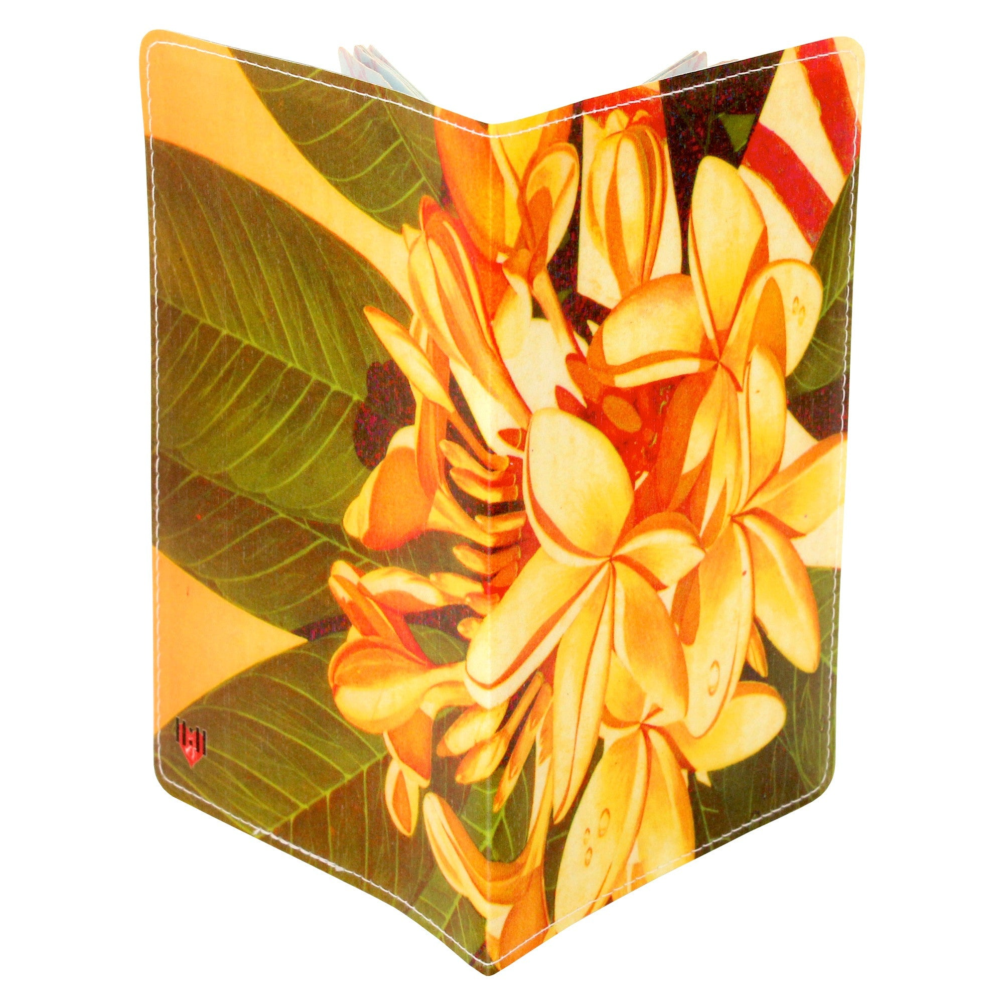 Frangipani Plumeria Travel Passport Holder