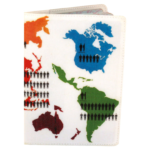 Population Explosion Map Travel Passport Holder