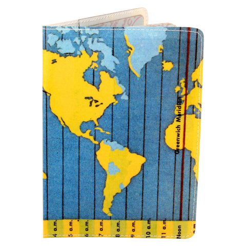 Time Zone Map Travel Passport Holder