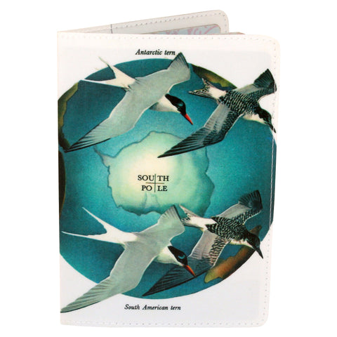 North Pole / South Pole Bird Map Passport Holder