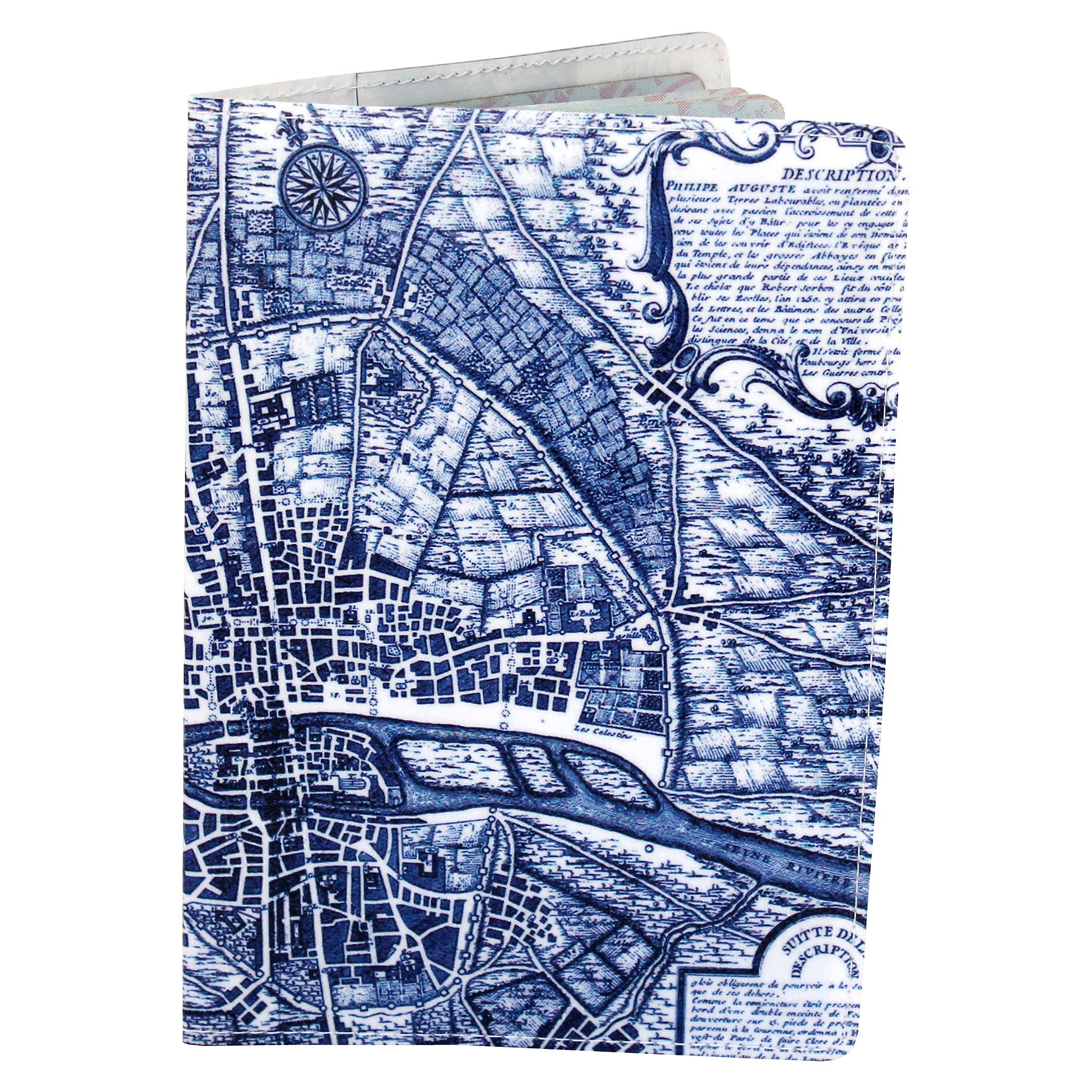 Map of Paris Travel Passport Holder