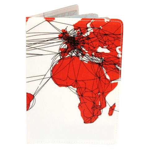airlines route map travel passport holder