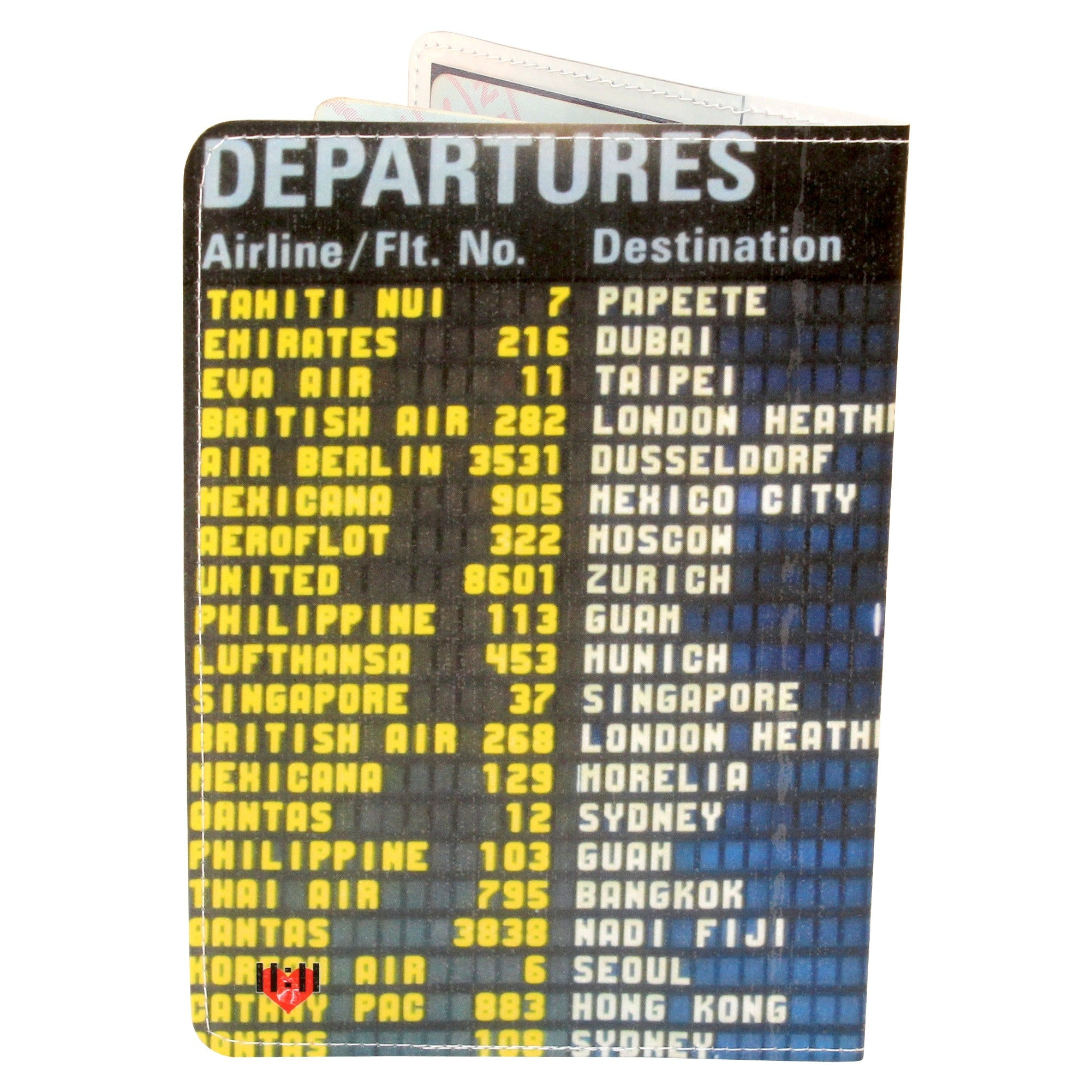 Airport Departures Travel Passport Holder