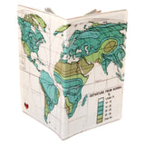 Departure from Normal Map Travel Passport Holder