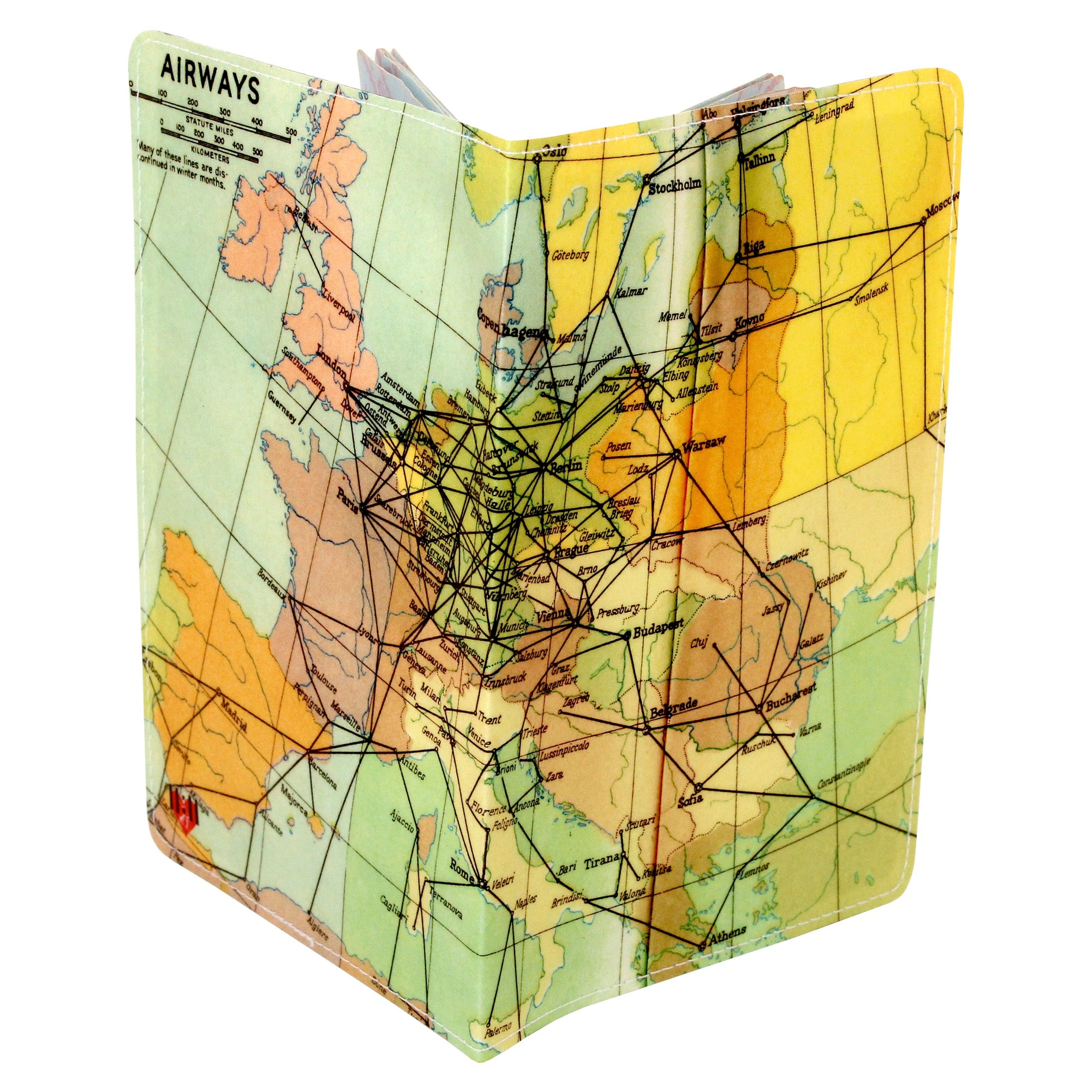 Airways Map Travel Set- Passport Holder + Matching Luggage Tags